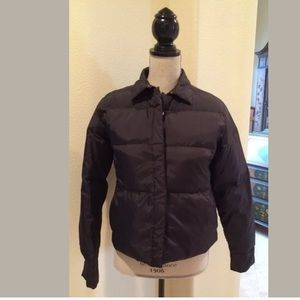 BANANA REPUBLIC Black Down Puffer Jacket Sz S